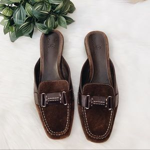 Cole Haan x Nike Air Brown Suede Mule Loafers